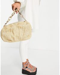 ASOS Oversized Ruched Clutch Bag - Multicolor