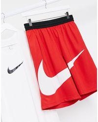 Nike Basketball Large Swoosh Logo Shorts - Red