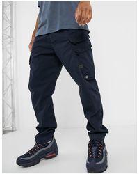 G-Star RAW Droner - Pantalon cargo fuselé décontracté - Bleu marine