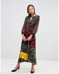 Sisley Robe longue fleurs - Multicolore