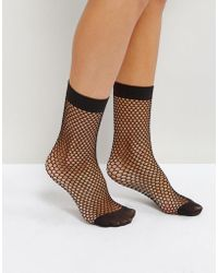 Miss Selfridge - Fishnet Sock - Lyst