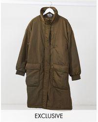Reclaimed (vintage) Long Puffer Jacket - Green