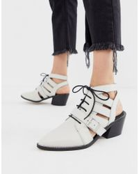 ASOS - Rookie Leather Cut Out Boots - Lyst