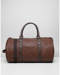 River Island Faux Leather Holdall In Tan - Brown