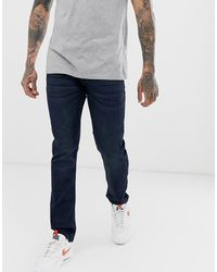Only & Sons Slim Fit Super Stretch Jeans In Dark Wash - Blue