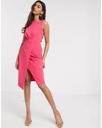 Closet Платье-футляр -розовый