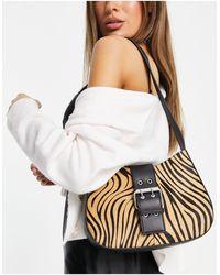 TOPSHOP Structured Scoop Shoulder Bag - Black