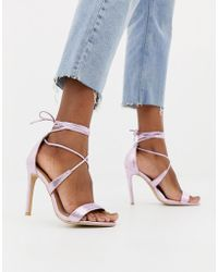 Glamorous - Strappy Heeled Sandals - Lyst