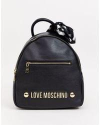 Love Moschino - Рюкзак С Логотипом -черный - Lyst