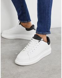River Island Trainers With Chunky Sole - White