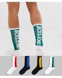 Jack & Jones 4 Pack Logo Socks - Multicolor