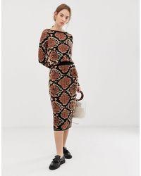 ASOS Snake Pattern Co-ord Skirt - Multicolour