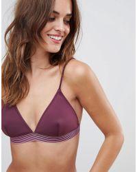 Y.A.S - Taped Triangle Bikini Top - Lyst