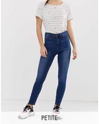 Noisy May - – Enge Jeans mit hohem Bund - Lyst