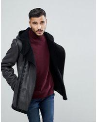 Goosecraft | Faux Sheepskin Jacket In Black | Lyst
