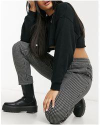 New Look Черные Джоггеры С Узором «гусиная Лапка» -черный