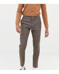 Heart & Dagger - Slim Suit Trousers In Camel Wool - Lyst
