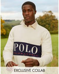 Polo Ralph Lauren X ASOS – Exclusive Collab – Sweatshirt mit Logoeinsatz auf Brusthöhe - Mehrfarbig