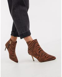 Oasis Pointed Ankle Boots - Brown