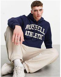 Russell Athletic Inconic - felpa con cappuccio - Blu