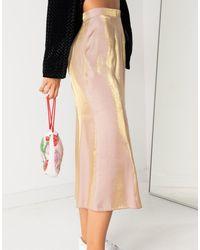 Daisy Street Midi Skirt - Pink