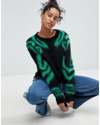 ASOS - Jumper With Pattern Sleeves - Lyst