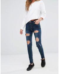 Good Vibes, Bad Daze - Good Vibes Bad Daze Ripped Skinny Jeans - Lyst
