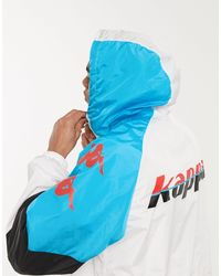 Kappa Белая Куртка На Молнии -белый - Синий