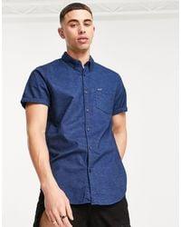 Hollister Camisa azul marino