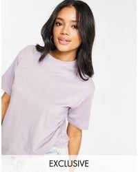 Missguided Basic Oversized T-shirt - Purple