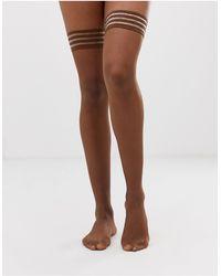 Nubian Skin - Матовые Чулки Темного Телесного Оттенка Плотностью 10 Ден -бежевый - Lyst