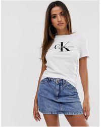 Calvin Klein T-Shirt mit Logo-Print - Weiß