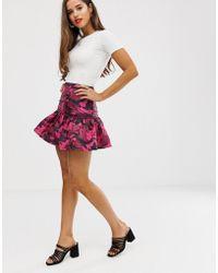 dbf57bfe6 Minifalda acolchada con estampado de camuflaje - Rosa
