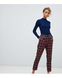New Look Tartan Check Pull On Pants - Blue