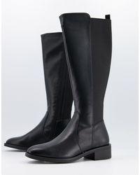 New Look Черные Высокие Сапоги Из Искусственной Кожи -черный Цвет