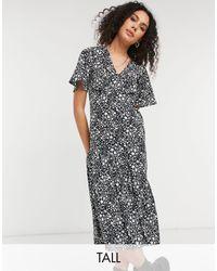 New Look Tiered Hem Midi Dress - Multicolor