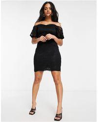 Lipsy Bardot Mini Dress - Black