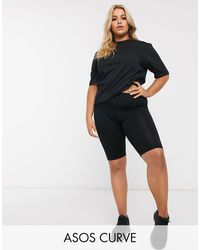 ASOS Asos Design Curve Basic legging Shorts - Black
