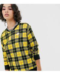 Nike Jersey con motivo de cuadros - Amarillo