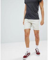 ASOS - Design Slim Chino Shorts In Putty - Lyst