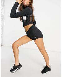 adidas Originals Adidas - Running - Pantaloncini con 3 strisce neri - Nero