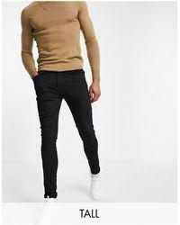 Brave Soul Tall - jeans skinny neri - Nero