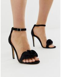 89a65191f71 Chunky Heeled Sandal With Frill - Black