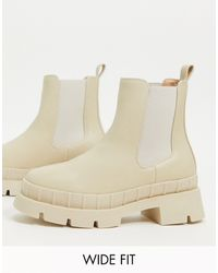 Raid Wide Fit Turner Chunky Chelsea Boot - Natural