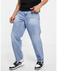 ASOS baggy Jeans With 'less Thirsty' Wash - Blue