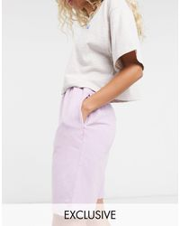 Reclaimed (vintage) - Inspired - Pantaloncini lilla slavato - Lyst