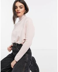 River Island High Neck Knit Sweater - Pink