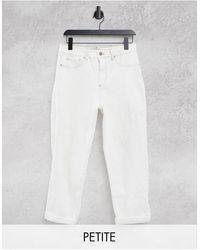 New Look Белые Джинсы В Винтажном Стиле Со Рваной Отделкой -белый