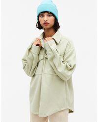 Monki Bennie Pocket Over Shirt Shacket - Green