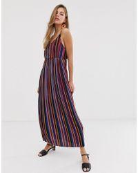 Pimkie Maxi Dress In Stripe Print - Purple